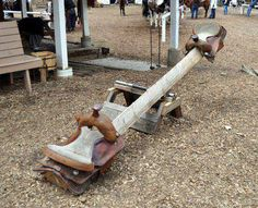 western themed see saw for kids idea #diy