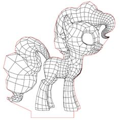 My little pony 3d illusion lamp vector file for CNC - 3bee-studio