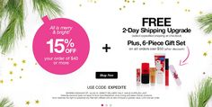 Avon Discount + Free Expedited Shipping + Avon Free Gift with your $50 or more Order - Get a 15% discount, free expedited shipping, and a free Avon 6-piece Gift Set with your online order of $50 (after discount) or more with Avon coupon code: EXPEDITE at http://eseagren.avonrepresentative.com. Expires: midnight December 20, 2015.