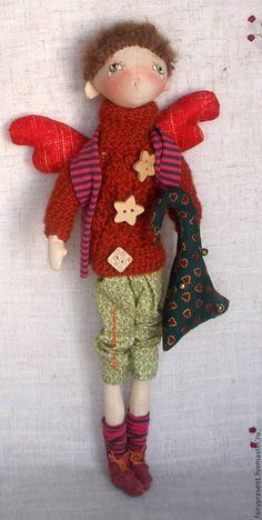 Купить Кукла Мотя - комбинированный, тыквоголовка, коллекционная кукла, коллекционная игрушка, кукла мальчик
