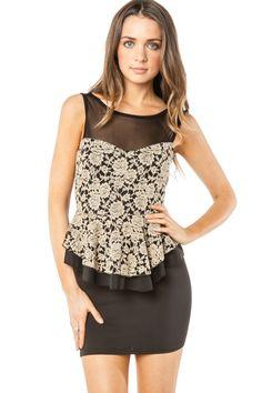 ShopSosie Style : Lera Peplum Dress