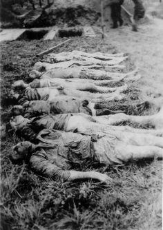 Exhumed corpses at Hadamar