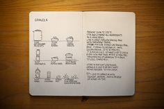 a cooking diary!  how cool!  great way to put recipes in a book!