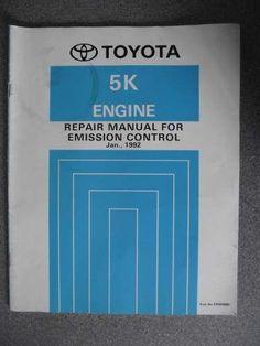 Toyota Emission Control Repair Manual 5K 1992 ERM088E #