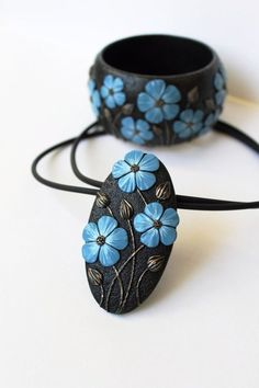 With a Gift Box Polymer Clay Jewellery a Gift For Her Wide Bangle Turquoise Polymer Clay Bangle