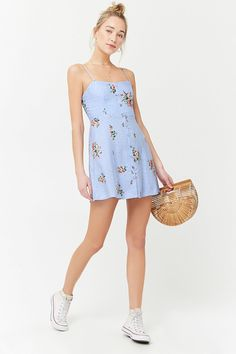 Product Name:Floral Print Cami Dress, Category:dress, Cute Dresses, Casual Dresses, Casual Outfits, Fashion Outfits, Summer Dresses, Floral Dresses, Trendy Dresses, Maxi Dresses, Winter Date Night Outfits