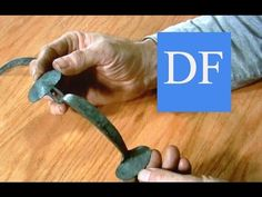 Blacksmithing Project - Forging the Suffolk bean latch - YouTube