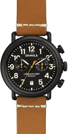 SHINOLA S0100096 Runwell black PVD-plated chronograph watch