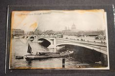 A postcard belonging to Edgar Samuel, a second class passenger from the RMS Titanic Inc. (Nathan Luna / CTV News)