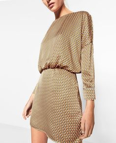 PRINTED DRESS-DRESSES-WOMAN   ZARA United States