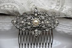 Bridal Hair CombArt Deco Head PieceVintage Style by cynthiacouture, $109.00