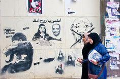 Revolutionary Graffiti - Egyptian women of the revolution Pro-revolutionary graffiti in Zamalek , Cairo.
