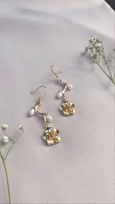 dangles sophisticated aesthetic trendy crystal earrings cottage core