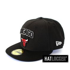 Chicago Bulls Black Fitted by New Era | www.hatlocker.com  #newera #chicago #bulls #nba
