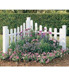 White picket corner fence