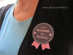 Badges Fête des mères