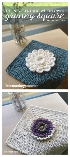 Crochet Wildflower Granny Square Free Pattern