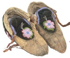 Chippewa Beaded Moccasins