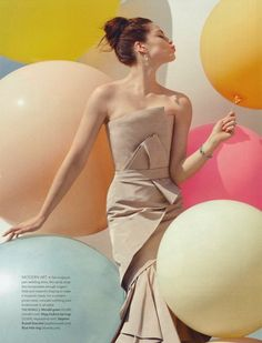 "The Terrier and Lobster: ""Floating on Air"": Balloons and Wedding Dresses by Anna Rosa Krau for Martha Stewart Weddings"