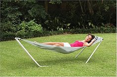 Amazon.com: Texsport Seadrift Hammock with Pillow and Stand Included Easy Set Up: Sports & Outdoors