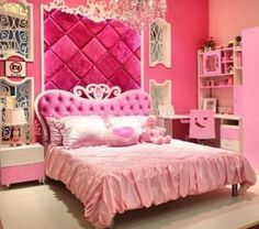 Pink bedroom ideas master bedroom bedroom for teens and girl Hot Pink Bedrooms, Pink Bedroom Decor, Pink Bedroom For Girls, Trendy Bedroom, Bedroom Sets, Dream Bedroom, Master Bedroom, Small Bedrooms, Bedroom Colors