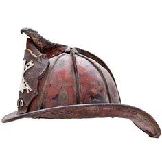 grownmanacademy: Cairns & Brothers Leather Fireman's Leather Helmet - Circa… Fire Dept, Fire Department, Rambo, Fire Helmet, Vintage Helmet, Fire Apparatus, Fire Engine, Cairns, Fire Trucks