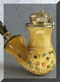 Antique Hungarian meerschaum pipe