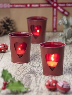 Valentine's Day Candles Crafts - 4 UR Break - Family Inspiration Magazine Romantic Table, Romantic Candles, Best Candles, Little Valentine, Valentines, Valentine Hearts, Tin Containers, Light Peach, Vintage Tins