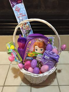 Sofia the first easter baskets google search gifts basket sofia the first easter basket negle Gallery