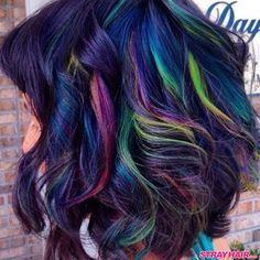 bright oil slick hair colors