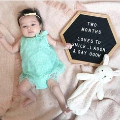 Ready to Ship! 12 Inch Letter Board The Original Hexagon Two Month Old Baby, 3 Month Old Baby Pictures, 6 Month Baby Picture Ideas, Milestone Pictures, Monthly Baby Photos, Baby Girl Pictures, Newborn Baby Photos, Baby Month By Month, Monthly Pictures