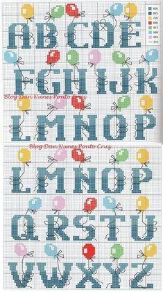 ponto-cruz-alfabeto-balões-500x400 32 alfabetos em ponto cruz
