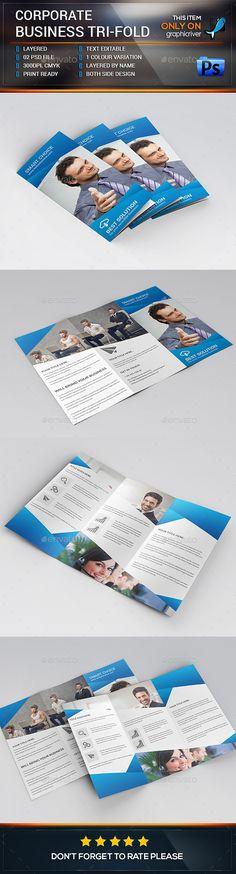 Corporate Trifold Brochure Template #design Download: http://graphicriver.net/item/corporate-trifold-brochure/12899526?ref=ksioks