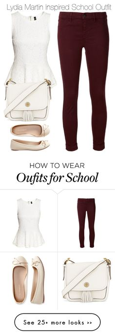 """Lydia Martin Inspired School Outfit"" by staystronng on Polyvore featuring H&M, J Brand, Aéropostale, Tory Burch, school, LydiaMartin and tw"