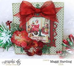 Christmas easel card, A Christmas Carol, Maggi Harding, Graphic 45