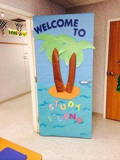 Study island door Classroom Door, Future Classroom, Classroom Themes, Teacher Door Decorations, Class Decoration, Ocean Themes, Beach Themes, Study Island, Teacher Doors