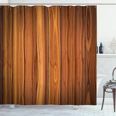 Wooden Planks Image Shower Curtain – joocarhome Rustic Shower Curtains, Curtain Store, Square Tables, Planks, Table Covers, Table Linens, Vibrant Colors, Plank