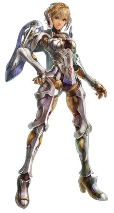 Fiora (Faced Mechon) - Xenoblade. I just love thsi character design!