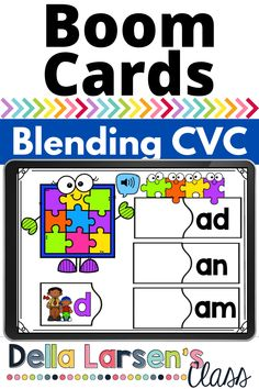 Boom Cards for a fun literacy center to increase blending phonemes into CVC words. Give your kindergarten students practice blending and reading cvc words. This Onset & Rime word work center gives students practice blending the sounds and reading the words. Perfect for literacy centers and Daily 5. Literacy Stations, Literacy Skills, Literacy Centers, Kindergarten Readiness, Kindergarten Classroom, Reading Fluency, Reading Strategies, Word Work Centers, Teaching The Alphabet