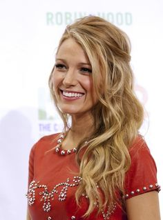 loose curls, Blake Lively