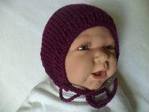 Babymütze gestrickt 35-38cm Mütze Baumwolle