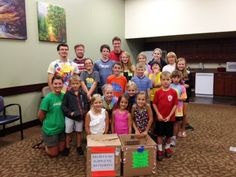 """The kids from SummerShine Day Camp collected school supplies to help NWA Children's Shelter's kids start the new school year off right. SummerShine is a state-licensed, non-denominational, non-profit, community day care for elementary students who have completed kindergarten and have not yet begun seventh grade. A HUGE """"THANKS!"""" to these giving SummerShine kids!"""