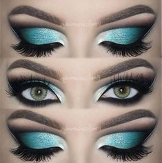 48 Best Stunning And Extraordinary Hottest Colourful Eye Makeup And Eye Shadow F. - - 48 Best Stunning And Extraordinary Hottest Colourful Eye Makeup And Eye Shadow For Prom And Party - Eye Makeup ♥*♡ 𝖘𝖙𝖚𝖓𝖓𝖎𝖓𝖌 𝖊𝖞𝖊 𝖒𝖆𝖐𝖊𝖚𝖕 ♥*♡ Party Eye Makeup, Eye Makeup Tips, Smokey Eye Makeup, Eyeshadow Makeup, Smoky Eye, Eyeshadow Palette, Gold Eyeshadow, Eye Palette, Makeup Eyes