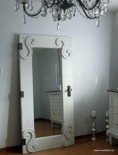 Standing full length mirror door tutorial. | Remodelaholic