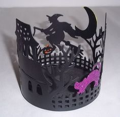 Halloween Spooky House Candle Holder Midnight Market New