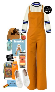 """the fashion victim"" by siesieasavage ❤ liked on Polyvore featuring Dolce&Gabbana, H&M, Marni, Andrea Marques, CASSETTE, Mint Velvet, orange, inmate and fashionvictim"