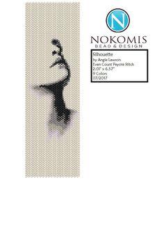 Even Count Peyote Stitch Bracelet Pattern Digital Download - Silhouette by NokomisBeadAndDesign on Etsy