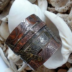 Etched Copper & Brass Cuff #4 by Miss Molly's Designs
