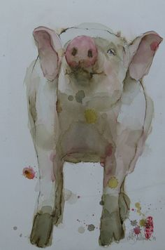"Saatchi Art Artist Marie-helene Stokkink; Painting, ""Knorrie SOLD"" #art"