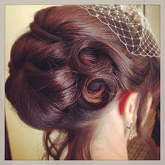 Vintage wedding updo by Constance Robbins